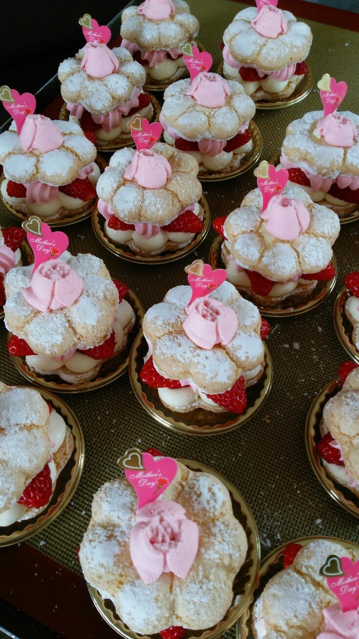 母の日、お花のケーキ